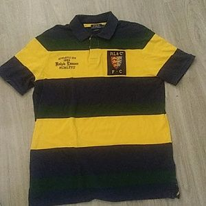 Polo Ralph Lauren yellow navy and green stripes